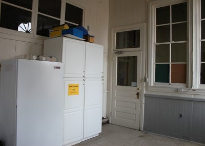 Freezer & cabinets moved!