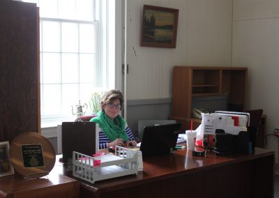 Hilary's new office, with windows