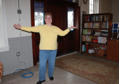 Susan in her new space