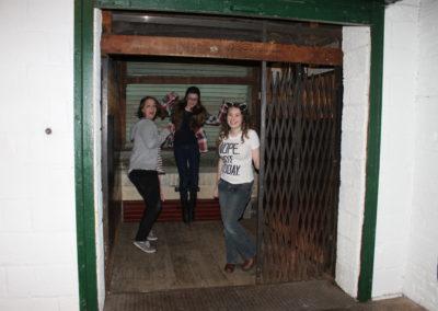 Saying goodbye to the old elevator
