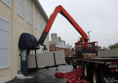 Delivering dry wall sheeting