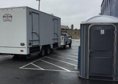 Bathroom trailers