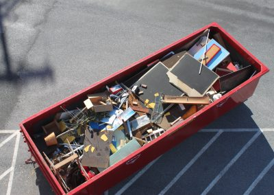 Dumpster filled in one Tuesday evening!
