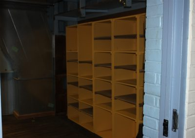 Guy's dressing room cubbies moved!