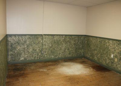 Empty office ready for tear down