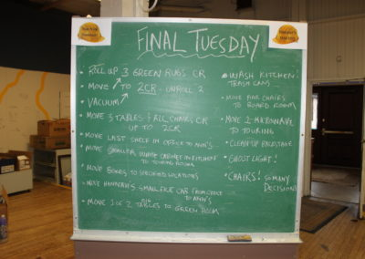 "The to-do list of the final ""Tear It Up Tuesday"""