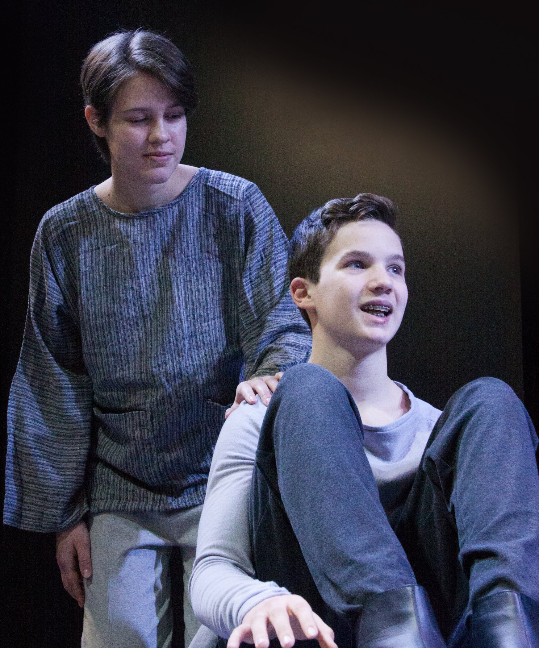 Lilly Einsig and Chris Beaudoin in The Giver